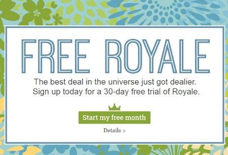 L'option Royale de PicMonkey gratuite pendant 1 mois